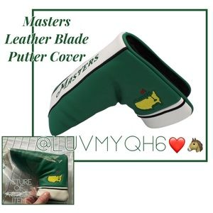 Authentic Masters Leather Blade Putter Cover